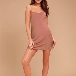 Lulus Make a Move Mauve Slip Dress